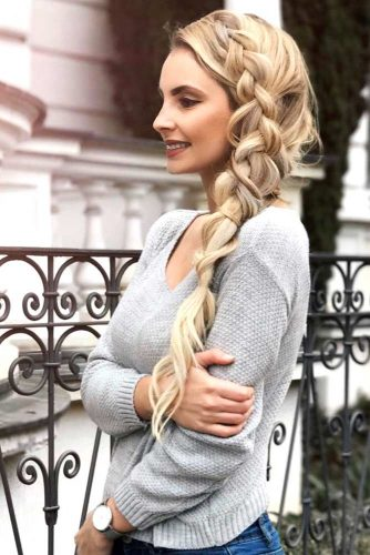 Romantic Side Braid Hairstyles picture 6