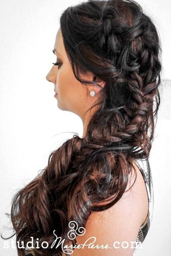 Fishtail Side Braid Hairstyles picture 1