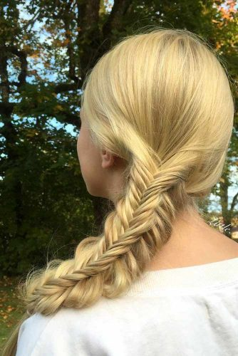 Fishtail Side Braid Hairstyles picture 6