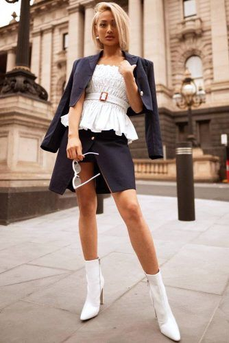 Classic Brunch Outfit #boots #skirt