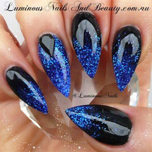 Electric Blue Nail Art