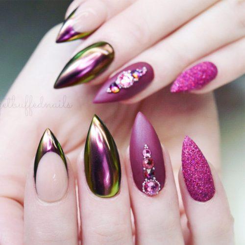 Nails Design With Purple Colors #purplestiletto