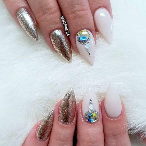 Nails Design for Short Stiletto Nails #shortnails