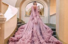 Luxurious Pink Wedding Dress Designs