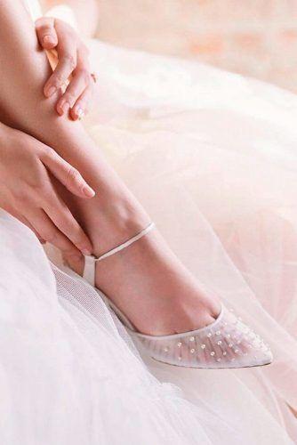 White Caprone Wedding Flats #capronweddingflats #weddingshoes