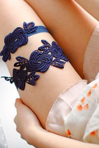 Traditional Blue Wedding Garter Sets picture 5