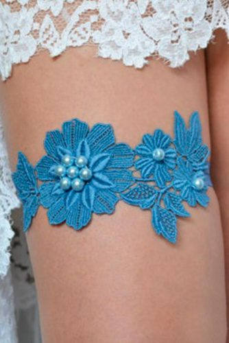Traditional Blue Wedding Garter Sets picture 4