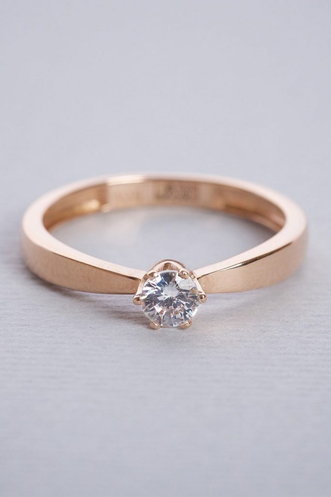 Solitaire Engagement Ring #solitaireringshape