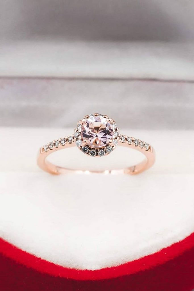 Halo Round Engagement Ring #haloroundring