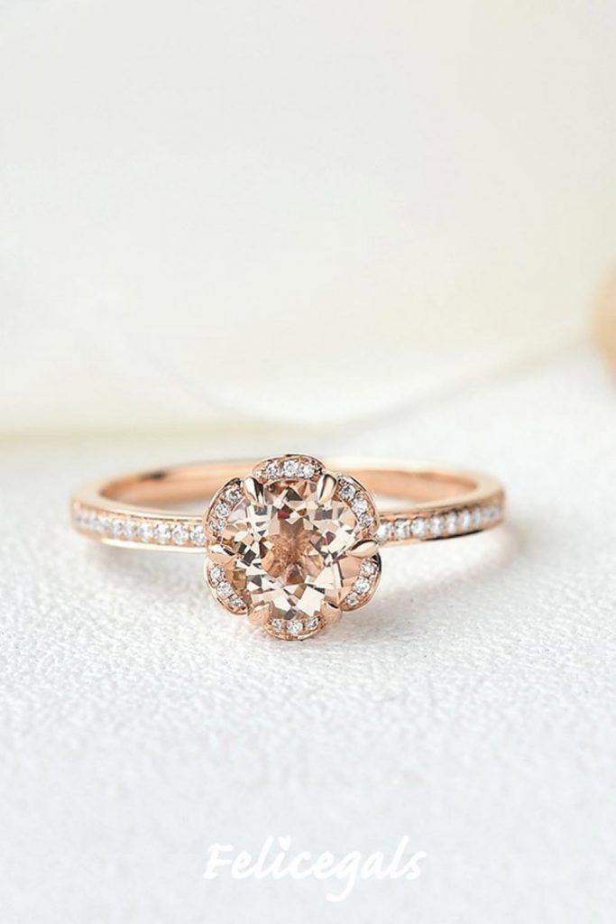 Floral Shape Engagement Ring #floralshape