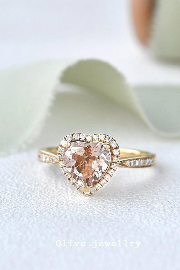 Heart Shape Engagement Ring #heartshape