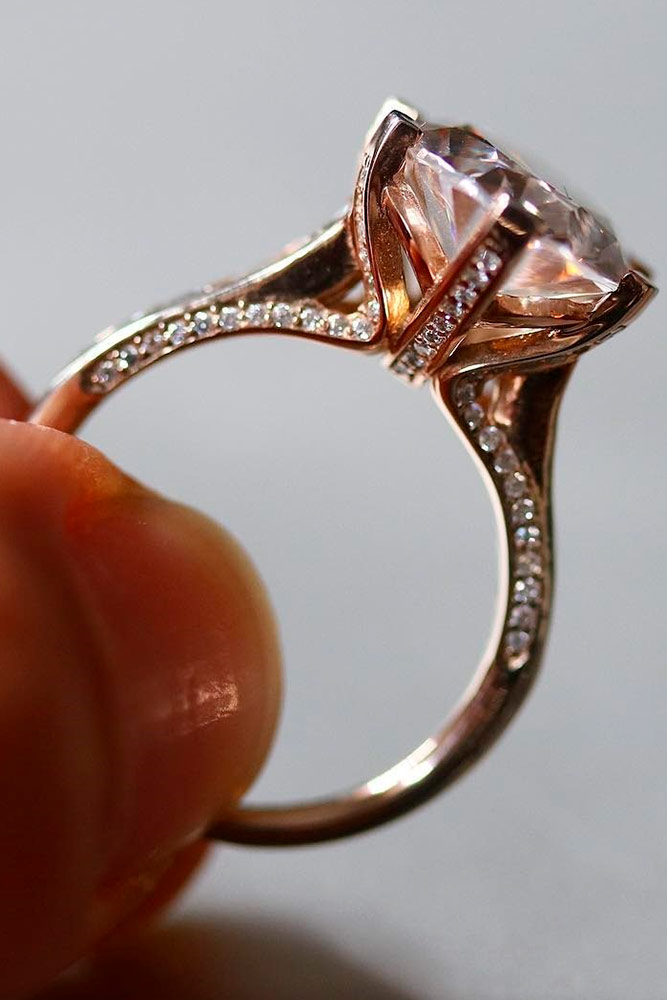 Luxurious Rose Gold Engagement Rings picture 1