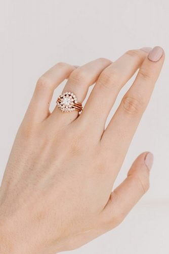 Unique Rose Gold Engagement Rind Design #rosegoldring
