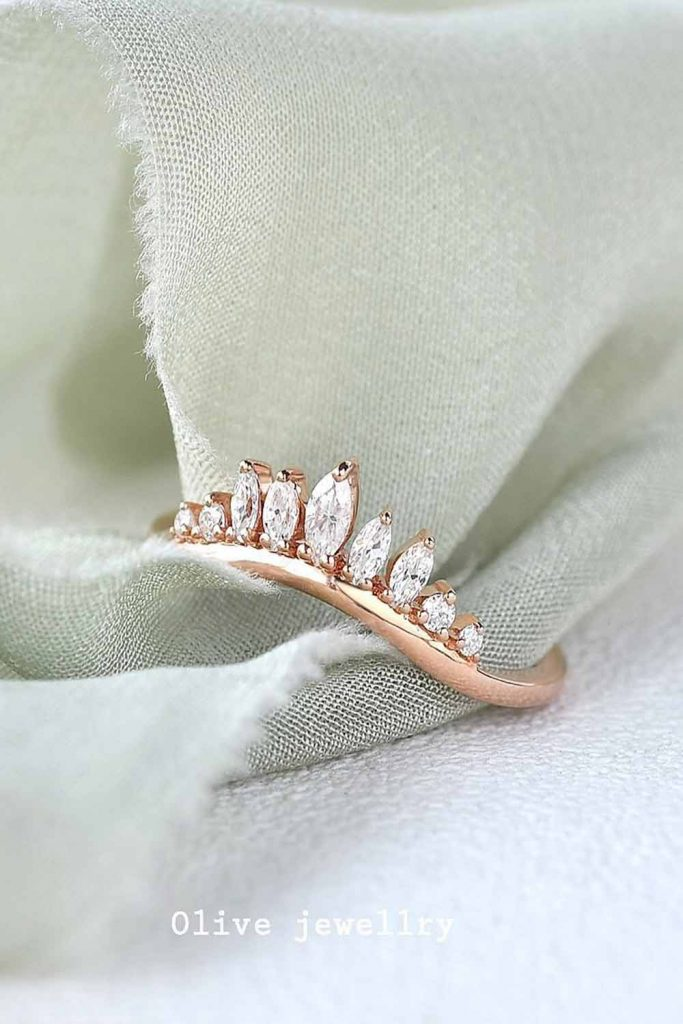 Crown Diamond Ring Shape #whitediamonds