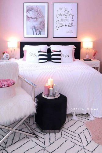 Pink Bedroom With Pictures Wall Decorations #picturesdecorations