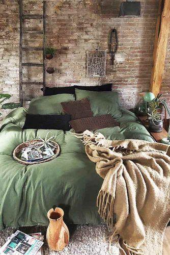 Bedroom Design In Dark Color #ladder
