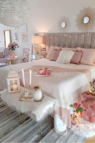 Modern Bedroom With String Lights #stringlights