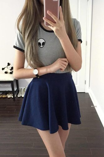 Back to School Outfit Ideas with Skirts picture 4