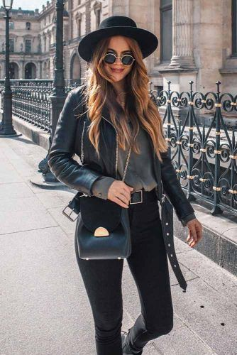 Monochromatic Black Look Outfits #blackoutfits