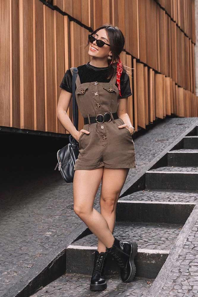 Short Overalls For School Outfits #overalls #shortoveralls