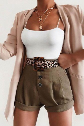 Stylish Outfits With Blazer #blazer #shorts