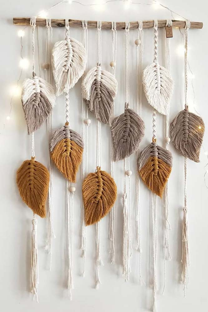 Macrame Leaves Wall Decorations #macrame #diydecorations
