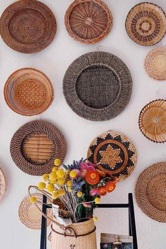 Different Baskets For Wall Decor #baskets #bohostyle
