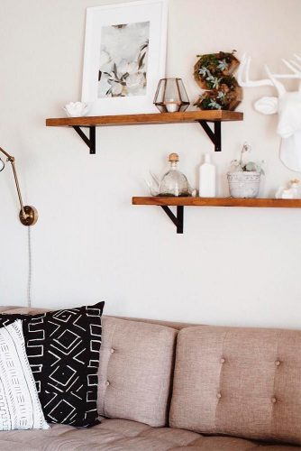 Rustic Shelves as Wall Decorating picture 3