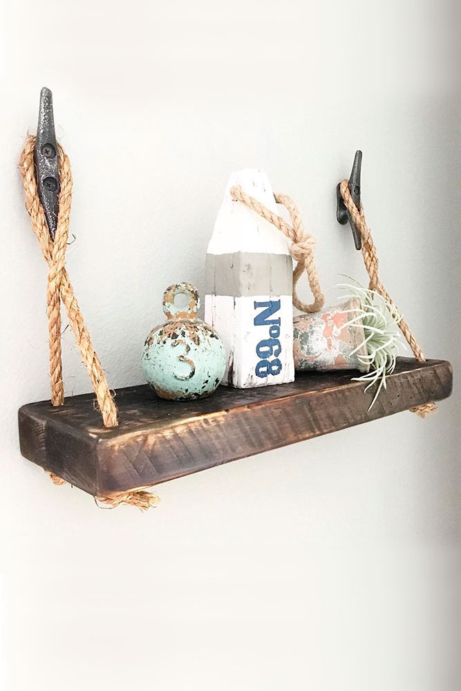 Rustic Shelves as Wall Decorating picture 1