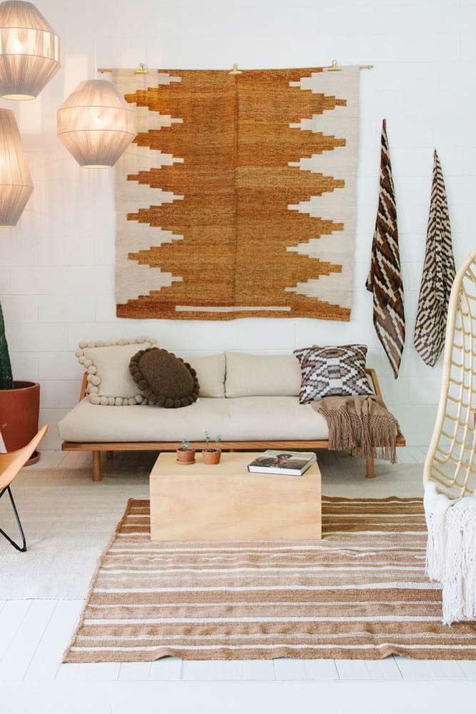 Patterned Small Rug Wall Decorations #smallrug #bohowall