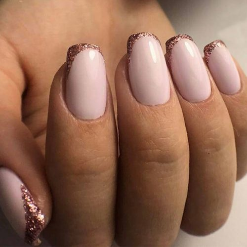 Rose and Gold Mani