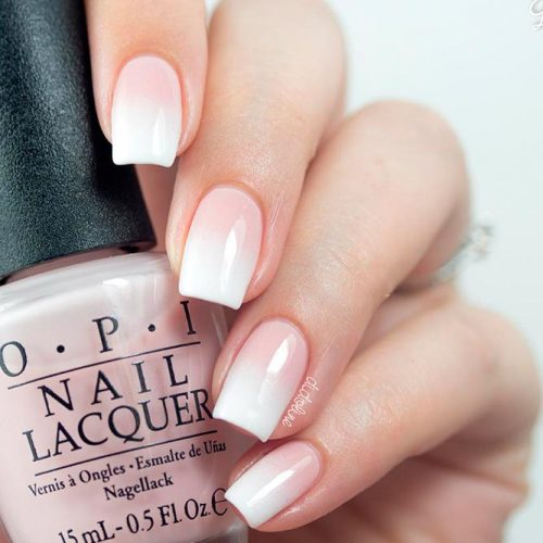 Cute French Fade For Perfect Mani #ombrenails #nudenails