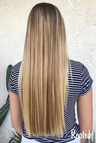 Stylish Look with Blunt Long Hair Cut picture 2