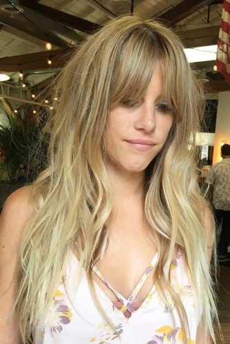 Fancy Short Bangs for Long Hair picture 4
