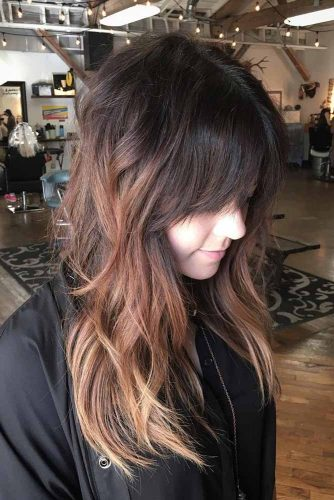 Fancy Short Bangs for Long Hair picture 5