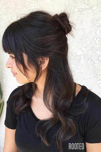 Fancy Short Bangs for Long Hair picture 1