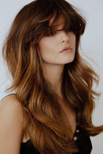 Fancy Short Bangs for Long Hair picture 6
