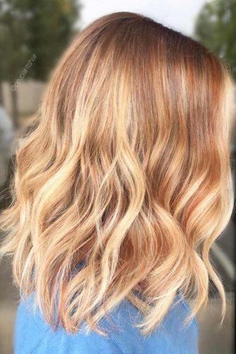 Lovely Blonde Balayage Medium Hair picture 4