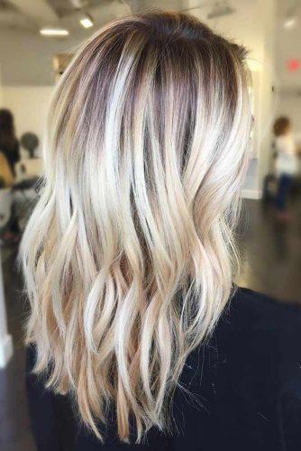 Lovely Blonde Balayage Medium Hair picture 3