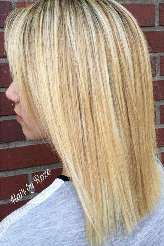 Lovely Blonde Balayage Medium Hair picture 2
