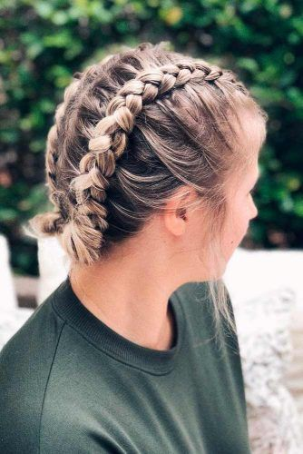 Dutch Braids Updo #dutchbraid #easihairstyles