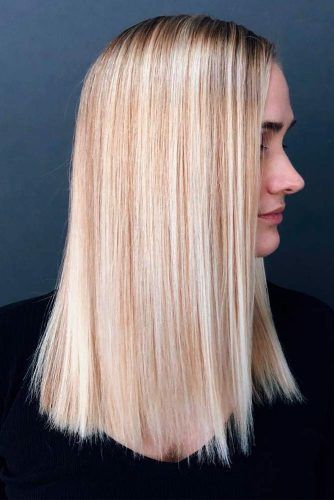 Straight Blonde Hair #sleekhair #blondehair