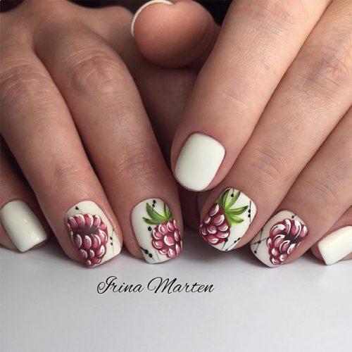 Raspberry Nail Design