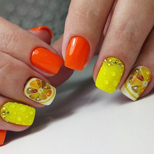 Lemon Nail Art