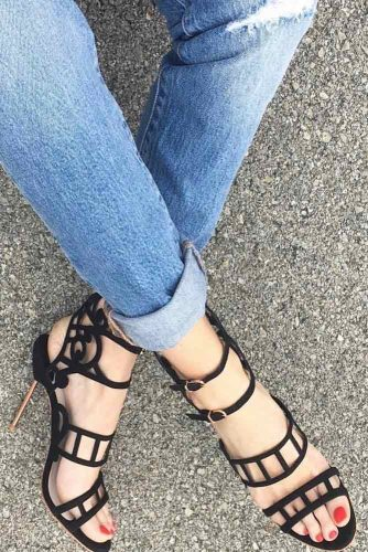 Trendy Strappy Heel Sandals picture 1