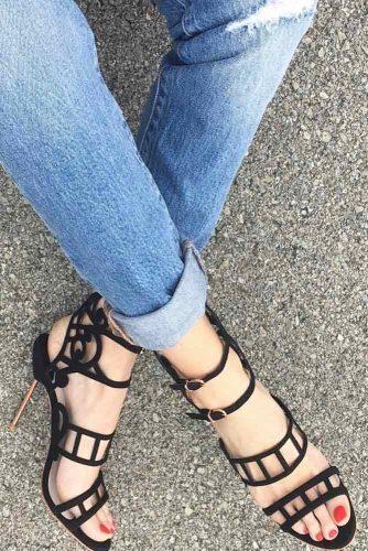 Trendy Strappy Heel Sandals picture 1