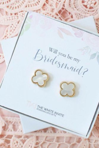 Earrings Proposal Bridesmaid Gift Idea #earrings #proposalgift