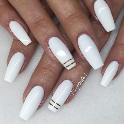 Cute White Coffin Nail picture 5