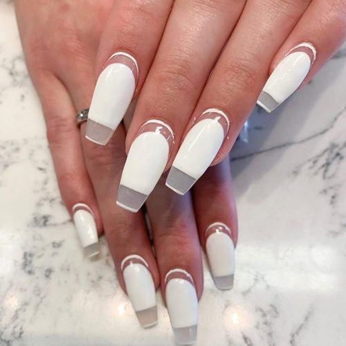Negative Space Blocked Nail Design #negativespacenails #blockednails