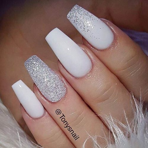Stunning White Coffin Nail Designs picture 5